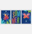 summer holiday cards collection vector image