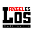 T shirt typography Los Angeles CA vector image vector image