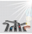 the road with a white marking three-dimensional vector image vector image