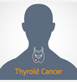 thyroid cancer icon vector image vector image