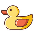 toy duck linecolor vector image