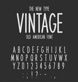Vintage narrow type modern letters design old