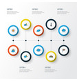 Weather colorful outline icons set collection of