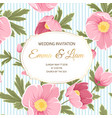 wedding invitation anemone hellebore peony flowers vector image vector image