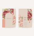 wedding invitation boho autumn floral card frame vector image vector image