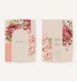 wedding invitation boho autumn floral card frame vector image