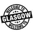 welcome to glasgow black stamp vector image vector image