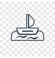 windsurf concept linear icon isolated on vector image