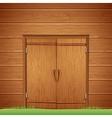 Wooden Barn Door Image vector image