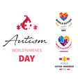 world autism day isolated icons disability vector image vector image