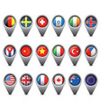 world flags pointer set vector image vector image