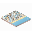 City beach vector image