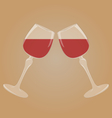Two glasses with red wine vector image