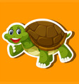 a simple turtle sticker vector image