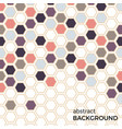 abstract background with color hexagons vector image vector image