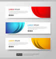 abstract business header or banner template set vector image