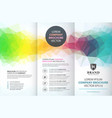 abstract colorful geometric trifold brochure vector image vector image