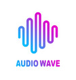 abstract colorful wave lines flowing isolated on vector image