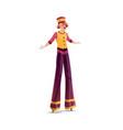 acrobat on stilts isolated clown artist