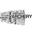 archery supplies text word cloud concept vector image vector image