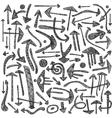 arrows doodles vector image vector image