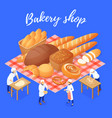 Bakery shop isometric
