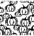 Black and white seamless pattern with pumpkins vector image vector image