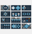 black slides with blue rhombuses for annual vector image