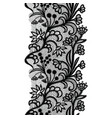 black vintage lacy elegant trim lace border vector image