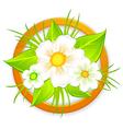 bouquet flower green signboard vector image vector image