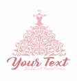 bridal wedding gown dress boutique logo vector image vector image
