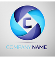 C letter colorful logo in the circle template for vector image vector image