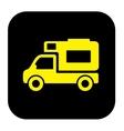 camper trailer icon vector image vector image