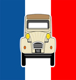 Car and flag vector image