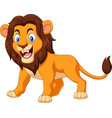 cartoon angry lion vector image vector image