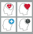 collection human head brain healthcare medical vector image