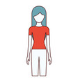 color sections silhouette faceless front view vector image