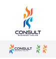 consulting logo design vector image vector image