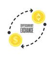 cryptocurrency exchange vector image