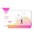 datum filter and estimation website landing page vector image vector image