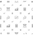 economy icons pattern seamless white background vector image vector image