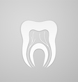 Emblem tooth with channel and vein vector image vector image