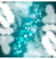 Festive background with Christmas trees vector image vector image
