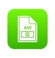 file avi icon digital green vector image vector image