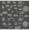 fust food hand drawn bread vector image