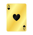 gold ace hearts