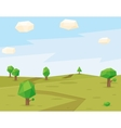 Green fields polygonal background vector image
