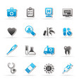 hospital medical and healthcare icons vector image