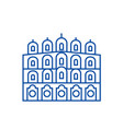 indian temple line icon concept indian temple vector image vector image