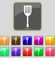 Kitchen appliances icon sign Set with eleven vector image vector image